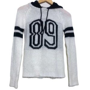 "Wet seal ""89"" knit sweater hoodie XS"